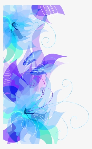 Border Blue Flowers Transparent Background