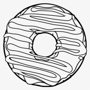 Donut Coloring Page Transparent Png 600x470 Free