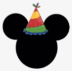 e5aa94b4698cd Mickey And Minnie Heads With Party Hats - Mickey Mouse Logo With Birthday  Hat