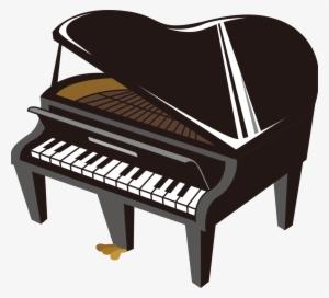 Black Cartoon Piano Element Design Cartoon Piano Png Transparent Png 1024x931 Free Download On Nicepng