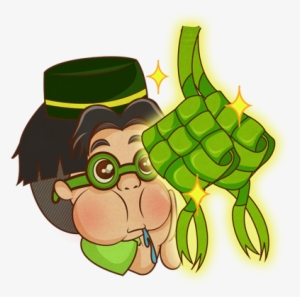 Ketupat Lebaran Emoji Raya Transparent Png 425x517 Free Download On Nicepng