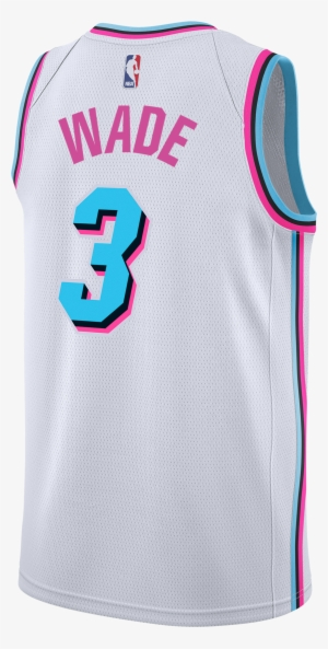 Dwyane Wade Nike Miami Heat Vice Uniform City Edition Jersey Miami Heat 2018 Transparent Png 3000x3000 Free Download On Nicepng