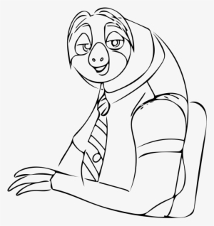 28 Collection Of Flash From Zootopia Drawing Zootopia Black And