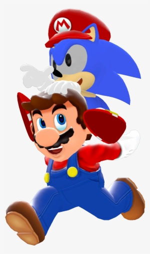 Classic Sonic And Modern Mario By Icepony64 On Deviantart Modern Sonic 16 Bit Transparent Png 862x1469 Free Download On Nicepng