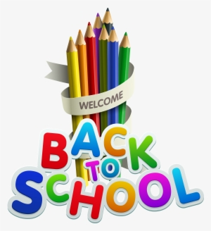 welcome back to school color pencils clipart welcome back to school year 2018 19 png