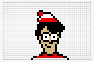 Waldo Pixel Art Pixel Art Minecraft Grid Transparent Png 480x317 Free Download On Nicepng