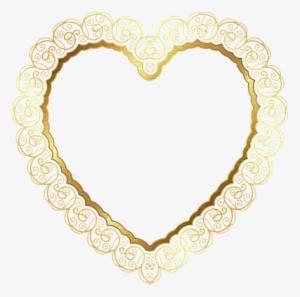 1813c1beeea Kaz Creations Deco Border Heart Love Gold Frames Frame - Heart Golden Frame  Png