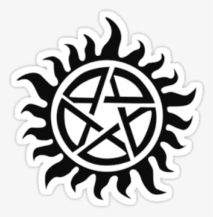 Demon Possession Protection Black By Styl0 Supernatural Tattoo Non Timebo Mala Transparent Png 375x360 Free Download On Nicepng