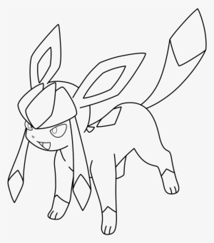 Glaceon By Kizarin On Deviantart Glaceon Pokemon Coloring Pages Eevee Evolutions Transparent Png 1300x1500 Free Download On Nicepng