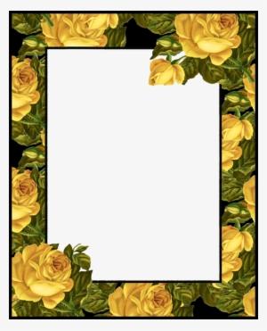 png photo printable frames frame background flower molduras de rosas amarelas