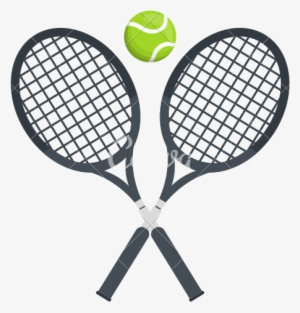 Racket Jpg Black And White Library Tennis Racket Clipart White