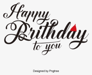 Blue Happy Birthday Wordart, Blue Happy Birthday, Wordart, - Happy Birthday Logo Hd