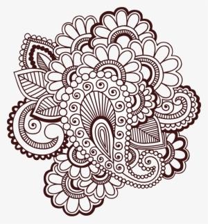 Khaleeji Henna Designs Henna Transparent Png 463x397 Free