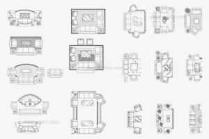 Living Room Furniture Sets Dwg Cad, Modern Living Room Furniture Cad Blocks