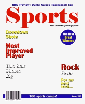 Sports Illustrated Cover Png Sports Magazine Cover Layout Transparent Png 480x600 Free Download On Nicepng