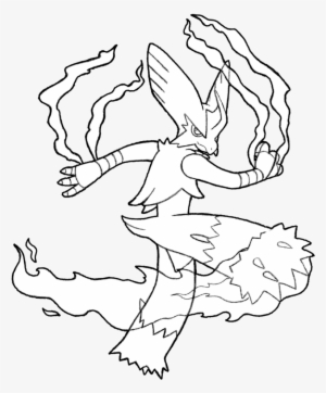 Mega Blaziken Coloring Pages Black And White