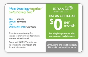 Pfizer Oncology Together Co Pay Savings Card Pfizer Health Insurance Transparent Png 448x290 Free Download On Nicepng