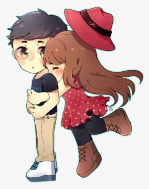 Diane On Twitter Chibi Cute Glomp Love Animated Love Couple Png Transparent Png 626x710 Free Download On Nicepng