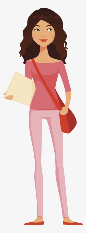 Studying Girl Clip Art - College Student Clipart - Png Download (#116423) -  PinClipart