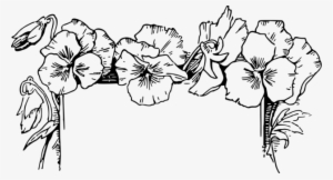 Drawing Flower Floral Design Black And White Floral Border Clipart Black And White Transparent Png 627x340 Free Download On Nicepng