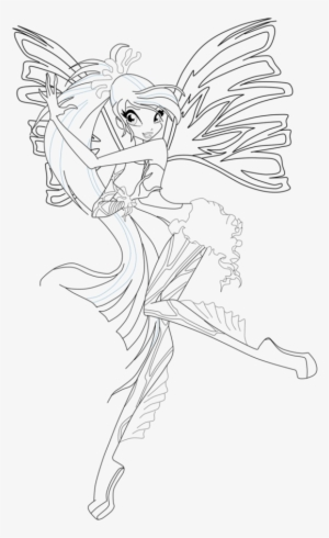 Winx Club Ball Gown Bloom Coloring Page by winxmagic237 on DeviantArt | 490x300