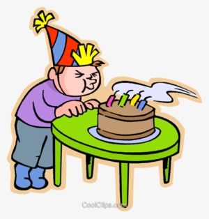 Boy Blowing Out Birthday Candles Royalty Free Vector