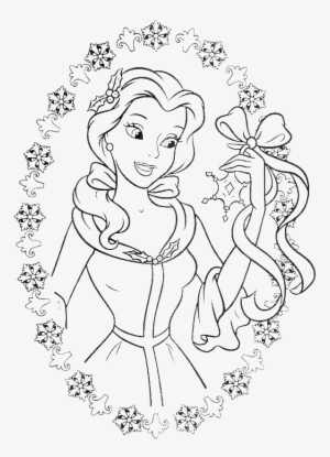 Prince And Princess Belle coloring page | Free Printable Coloring ... | 415x300
