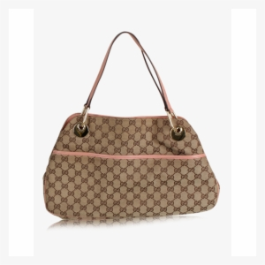 Gucci Gucci Monogram Bag With Pink Handles Louis Vuitton Edition