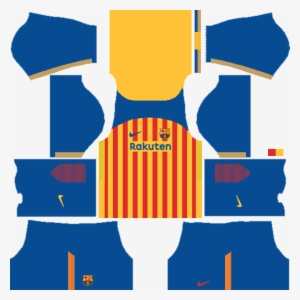 Picture Dream League Soccer Kit Barcelona 2019 Transparent Png 509x510 Free Download On Nicepng