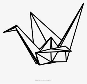 origami crane coloring pages   Origami Crane Coloring Page - Grullas De Papel Dibujo ...