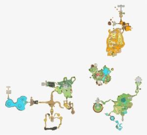 skyward sword world map Map Of The Surface The Legend Of Zelda Skyward Sword