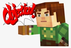 Mcsm Jesse Objection Bubble Minecraft Story Mode Memes Objection Transparent Png 640x439 Free Download On Nicepng