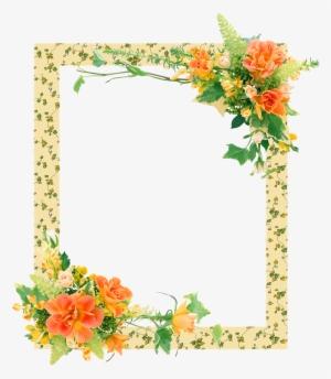 Arboles Y Flores Png Free Pink Flowers Border Clip Art Transparent
