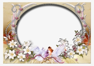 Wedding Invitation With Floral Background In Watercolor Wedding Photo Frame Background Transparent Png 1500x1055 Free Download On Nicepng