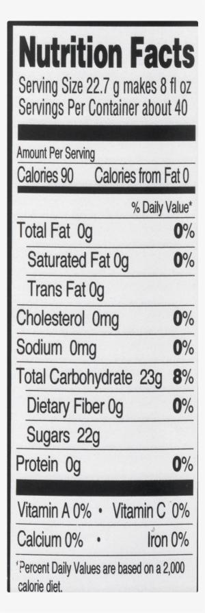 Iced Tea Nutritional Facts - Nutiva