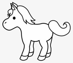 Animal Clipart Black And White Free Clipart Images Cartoon Horse Coloring Page Transparent Png 550x474 Free Download On Nicepng