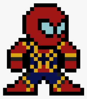 Spiderman Pixel Art Grid