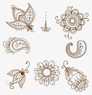 Henna Style Elephant Tattoo Transparent Png Line Drawing Elephant