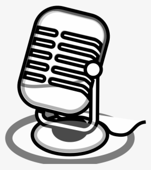Old Radio Microphone Vector - Icono Microfono Radio ...