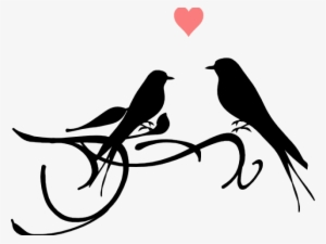 Dove Clipart Black And White Love Birds Black And White Transparent Png 600x455 Free Download On Nicepng