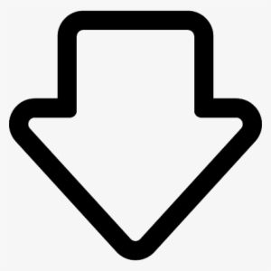 Arrow Pointing Down In A Circle Bulb Icon In White Transparent Png