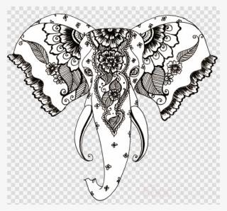 Elephant Drawing Henna Clipart Henna Mehndi Clip Art Draw A Mehndi
