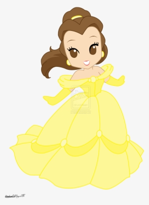 Chibi Disney Princesses Drawings Disney Princess Belle Cute Disney Princess Belle Transparent Png 1600x2089 Free Download On Nicepng