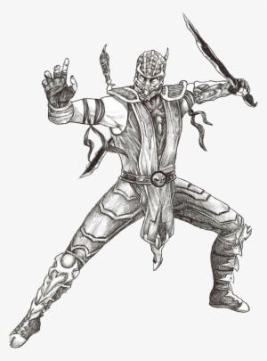 Mortal Kombat Drawings Mortal Kombat Characters Scorpion Drawing