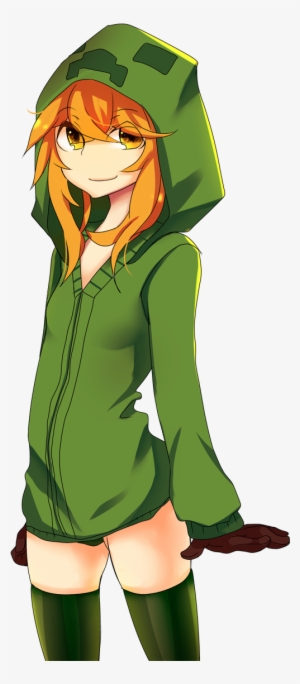 Normal Minecraft Anime Mobs Creeper Transparent Png 982x1142 Free Download On Nicepng