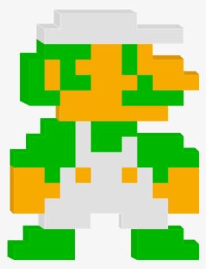 Nesluigi Super Mario Bros Luigi Pixel Art Transparent Png