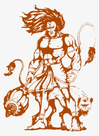 Jai Bajrangbali Drawing Of Hanuman Angry Transparent Png 500x707 Free Download On Nicepng