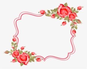 Victorian Red Rose Graphic Marcos De Rosas Rojas Transparent Png