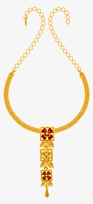 22k Yellow Gold Necklace Pc Chandra Jewellers Light Weight Necklace Collection Transparent Png 1000x1000 Free Download On Nicepng
